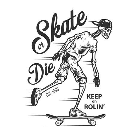 VIntage sport skateboarding label Illustration