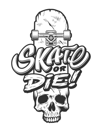 Vintage skateboarding emblem template 일러스트