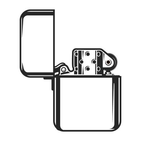 Vintage monochrome Metall Feuerzeug Konzept Standard-Bild - 103042721