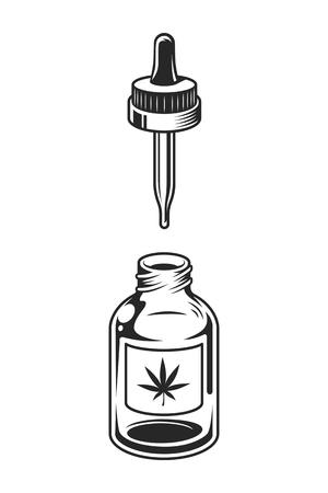 Vintage medical cannabis concept