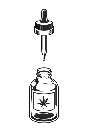 Vintage medical cannabis concept