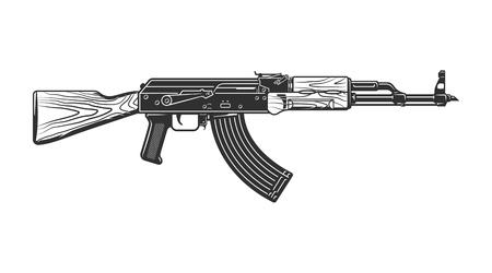 Concepto de pistola de tiro vintage