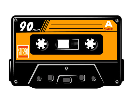 Vintage colorful audio casette concept Stock Vector - 104031132
