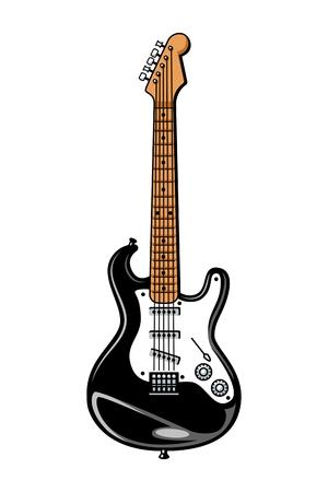 Vintage colorful electric guitar template Illustration