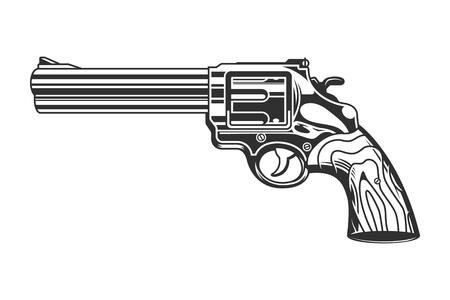 Vintage Revolver Pistole Vorlage Standard-Bild - 104040120