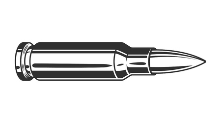 Vintage monochrome gun bullet template Stock Photo - 104040123