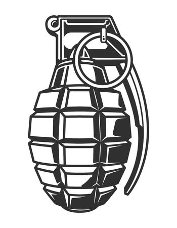 Vintage military hand grenade concept Foto de archivo