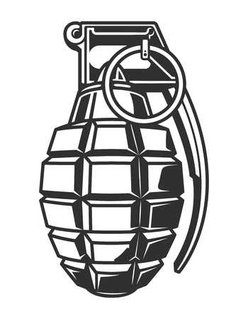 Vintage military hand grenade concept Imagens