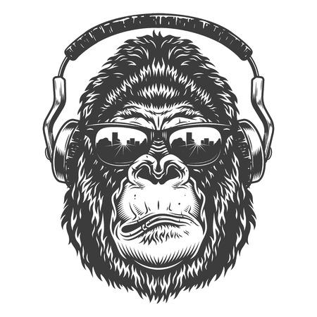 Cabeza de gorila Foto de archivo - 104040534