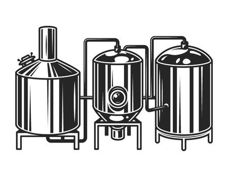 Concetto di macchina per la produzione di birra vintage