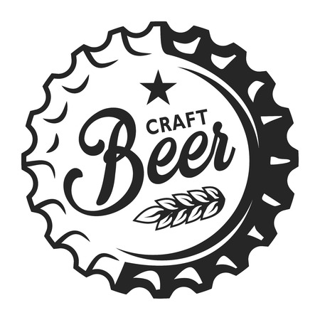 illustration Vintage beer cap