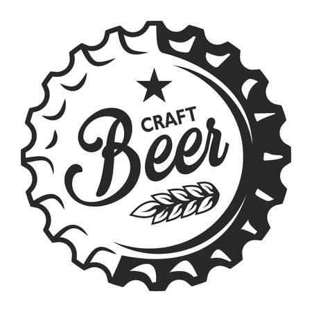 Emblème de bière artisanale vintage
