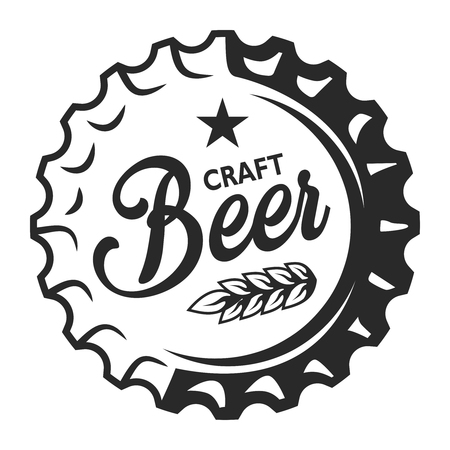 Vintage ambachtelijk bier embleem Stockfoto - 104070290