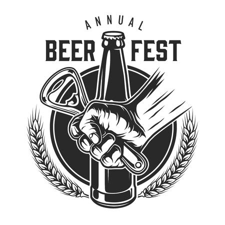 Vintage bierfestival embleem