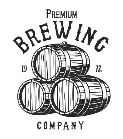 Vintage monochrome brewing company emblem