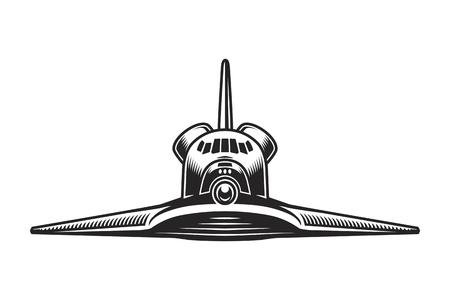 Vintage space shuttle front view concept Illusztráció