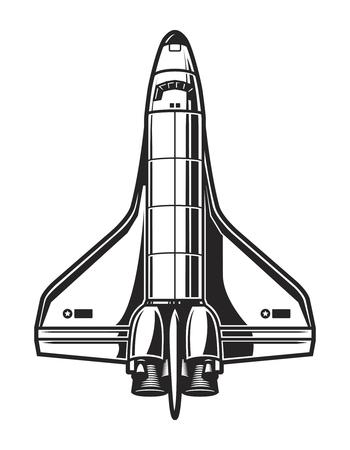 Vintage ruimteschip sjabloon Vector Illustratie