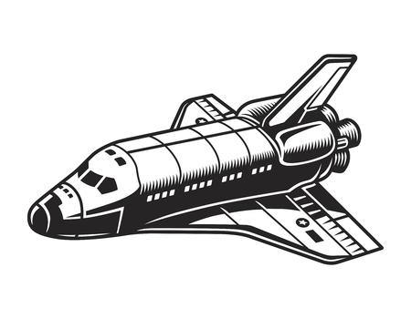 Vintage futuristisch ruimtevaartuig concept