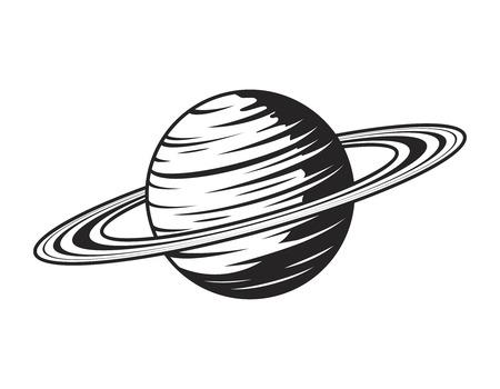 Concepto de planeta saturno vintage