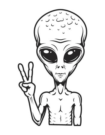 Concepto extraterrestre vintage