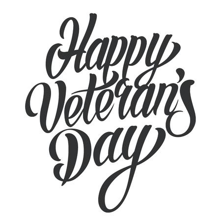 Happy Veterans Day lettering Stock Vector - 104069975