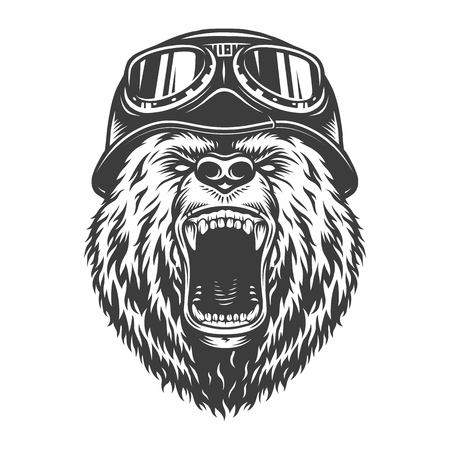 Vintage collection style bear  イラスト・ベクター素材