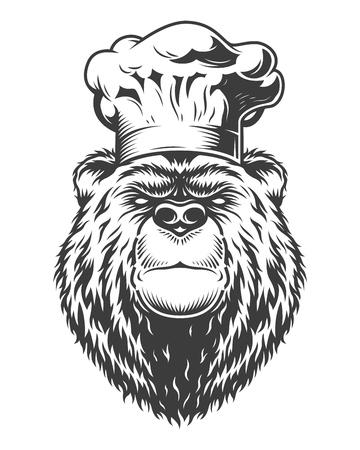 Vintage collection style bear Illustration