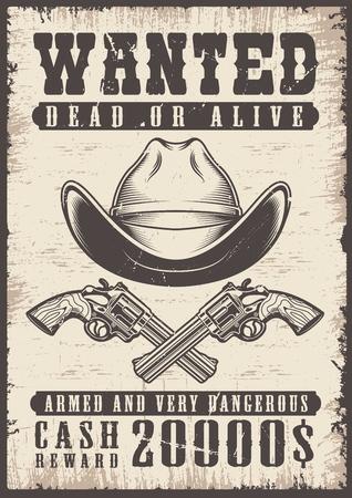gezocht vintage poster