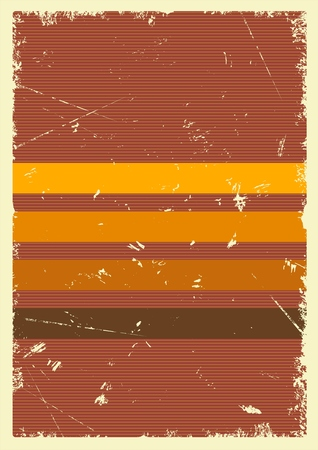 Retro abstract poster