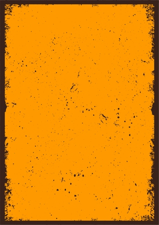 Vintage abstract blank orange poster