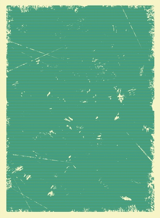Vintage green blank poster