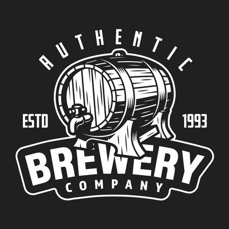 Vintage brewery company label
