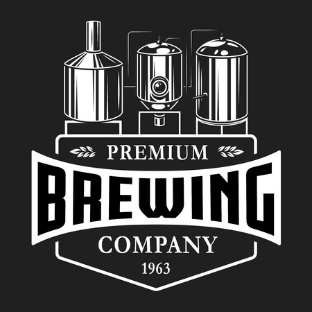 Vintage brewery monochrome template