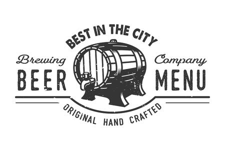 Vintage beer pub icon concept  イラスト・ベクター素材