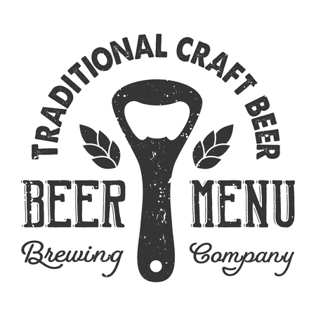 Vintage craft beer element concept
