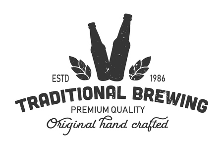 Vintage traditional brewing monochrome element Illustration