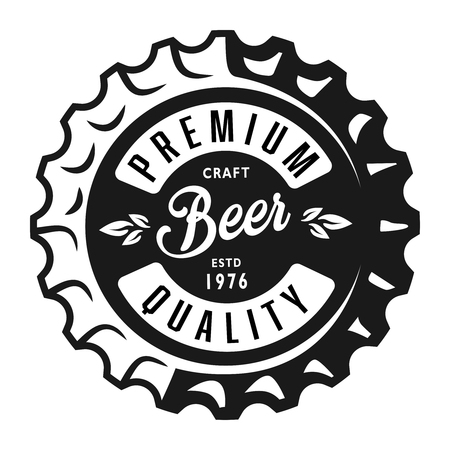 Vintage monochrome lager beer label
