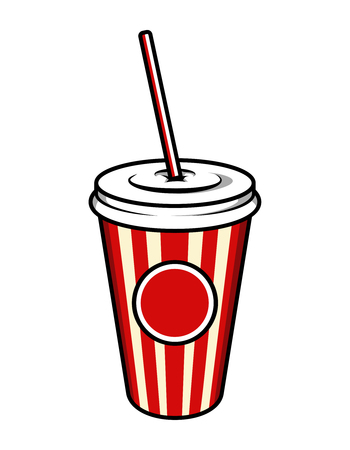 Vintage colorful cinema soda cup template