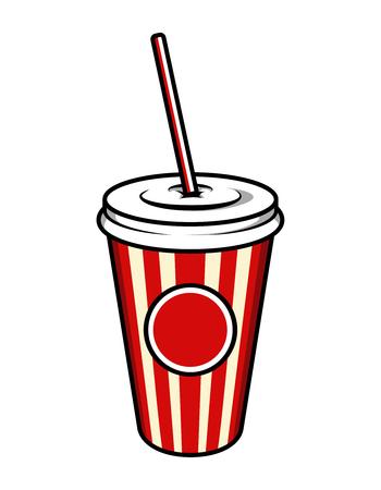 Vintage colorful cinema soda cup template