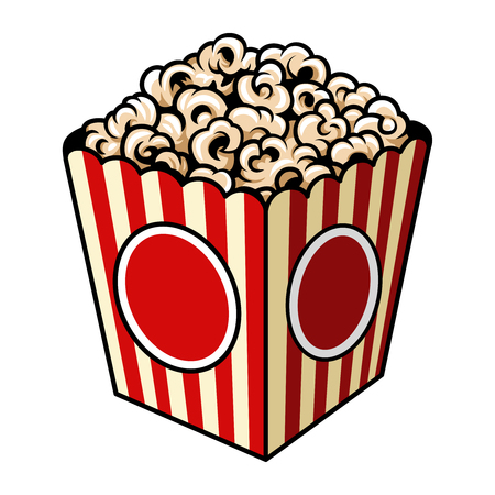 Vintage colorful popcorn concept