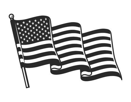 Winkende Flaggenkonzept der Vereinigten Staaten