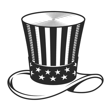 Vintage Uncle Sam hat template Stock Vector - 104071537