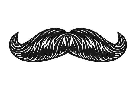 Vintage male facial mustache concept