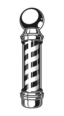 Plantilla de poste de rayas de peluquería vintage