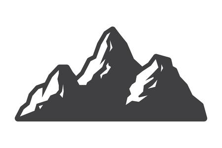 Vintage mountains landscape silhouette concept Banque d'images - 105265982