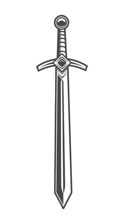 Vintage knight sword concept