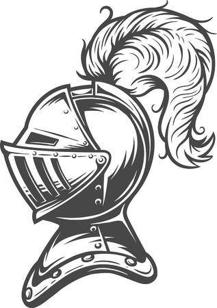 Vintage medieval knight helmet concept