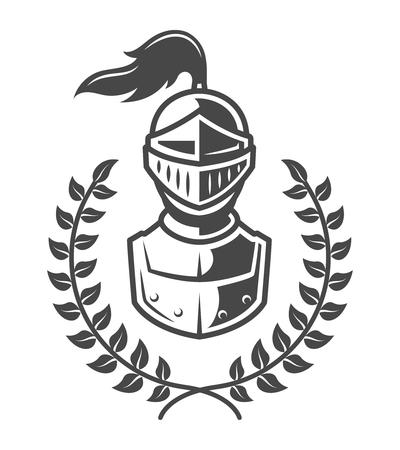 Vintage armored knight emblem