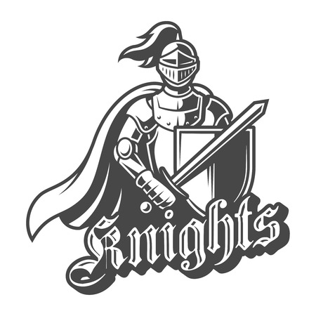 Monochrome brave knight label