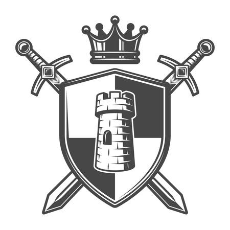 Vintage medieval coat of arms template